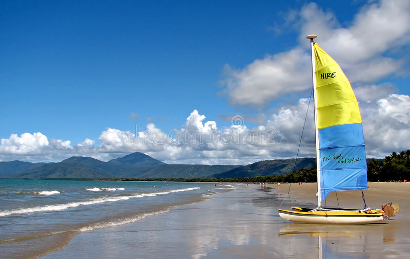 tropikalny na plaży zdjęcia stock