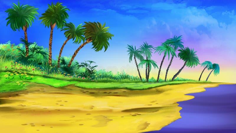 tropikalny na plaży ilustracja wektor