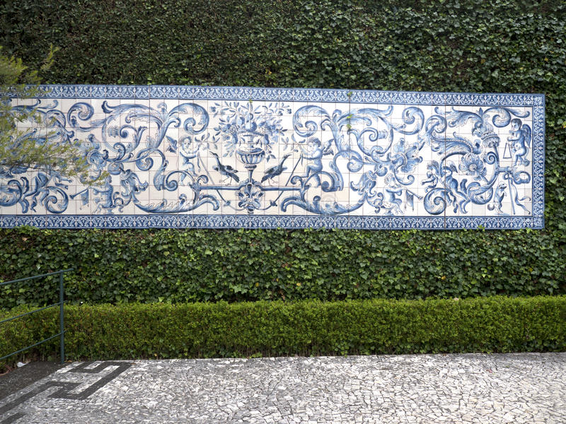 Tropikalny ogród przy Monte nad Funchal madera fotografia royalty free