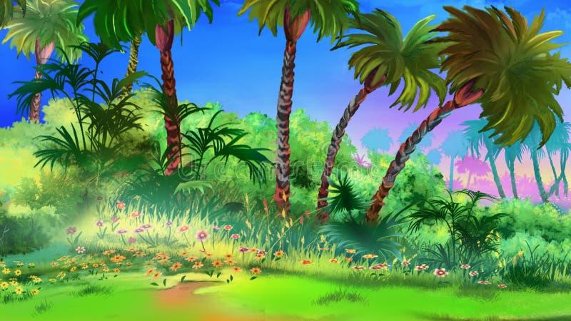 tropikalny ogrodu ilustracja wektor