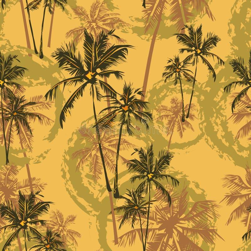 Tropikalny palma wzór royalty ilustracja