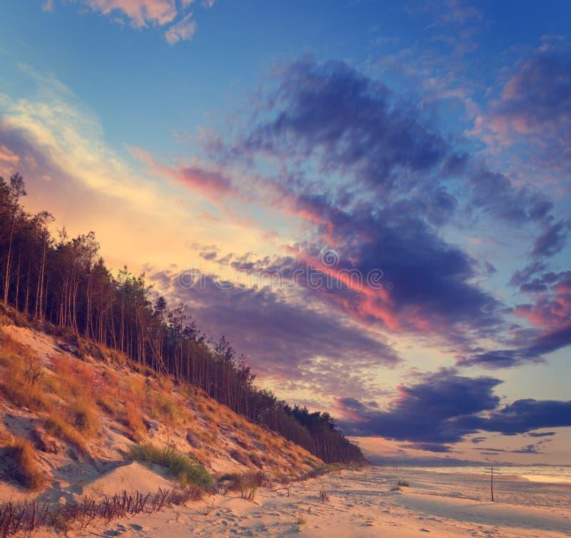 tropikalny piękny zachód słońca zdjęcia royalty free