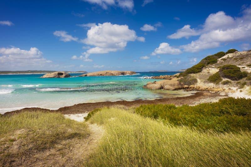 Tropikalny plaża krajobraz zdjęcie royalty free