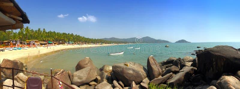 Tropikalny plażowy Palolem, Goa, India zdjęcie stock