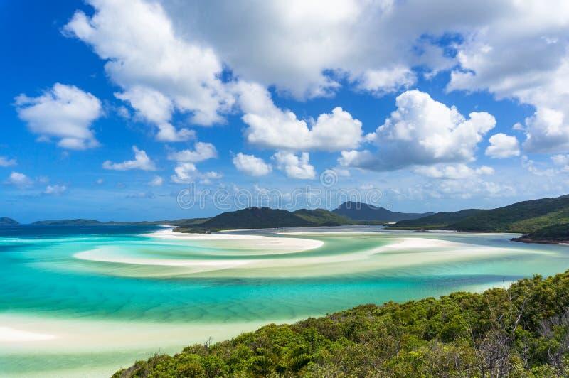 Tropikalny plażowy raju tło turkusowa błękitne wody i b zdjęcia royalty free