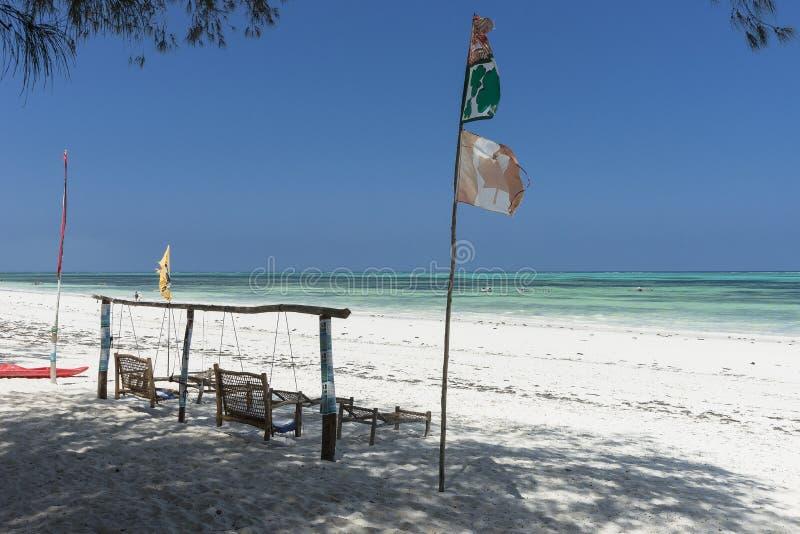 tropikalny plażowy Zanzibaru fotografia stock