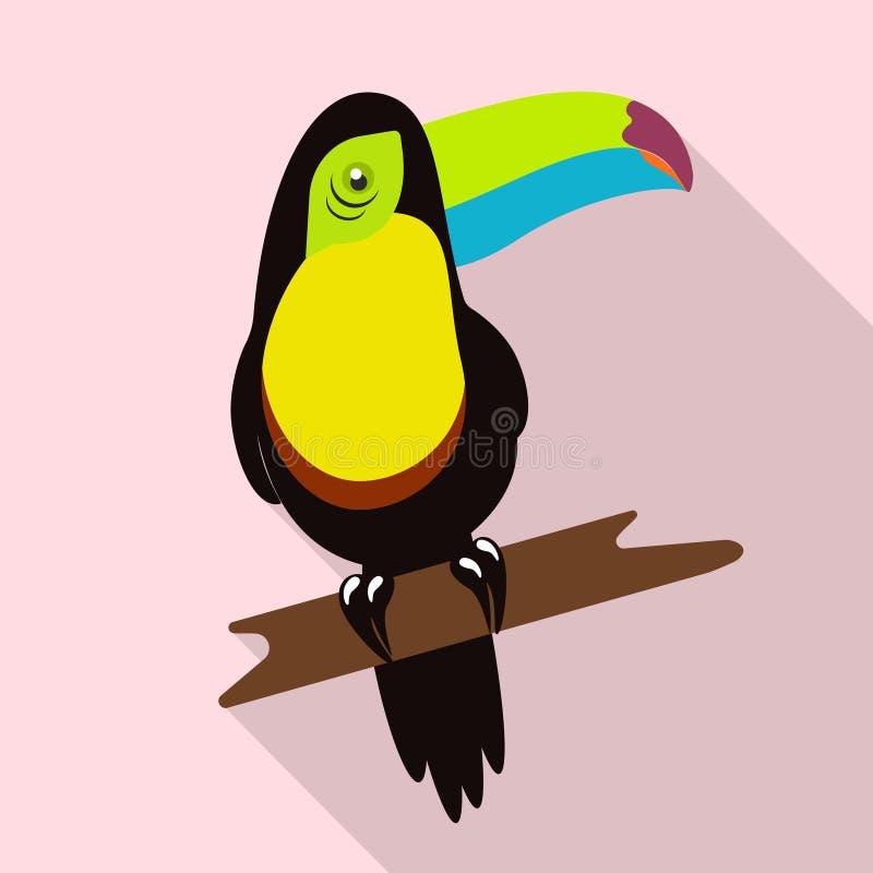 Tropikalny ptasi tukan royalty ilustracja