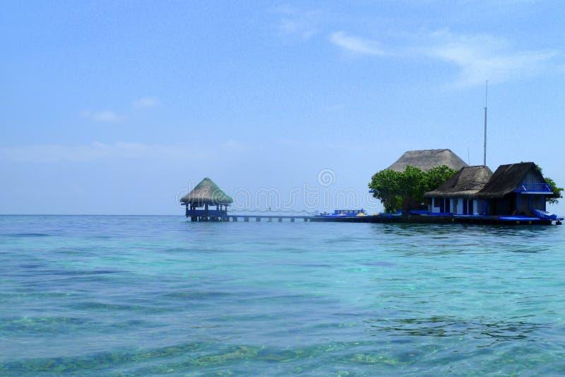 Tropikalny raj - Rosario wyspy, Kolumbia obraz stock