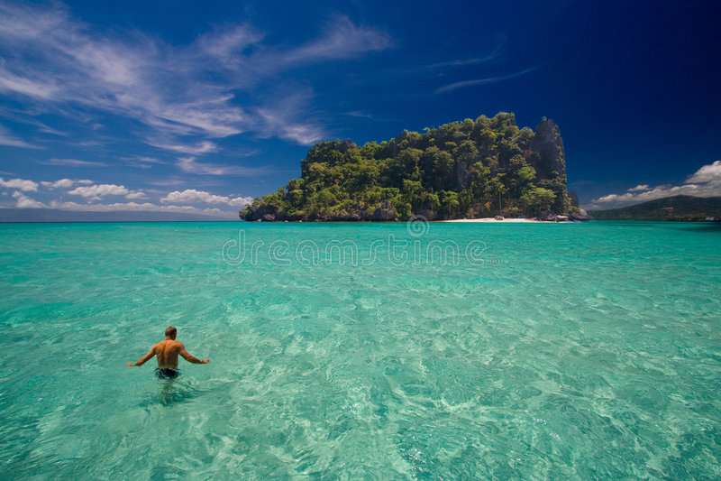 tropikalny rajskiej wyspy fotografia stock