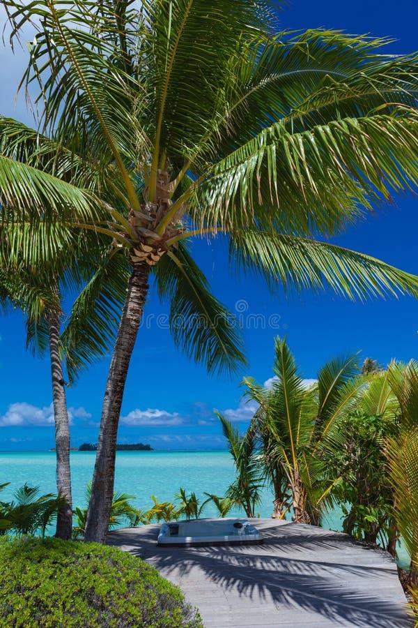 Tropikalny raju wjazd obrazy stock