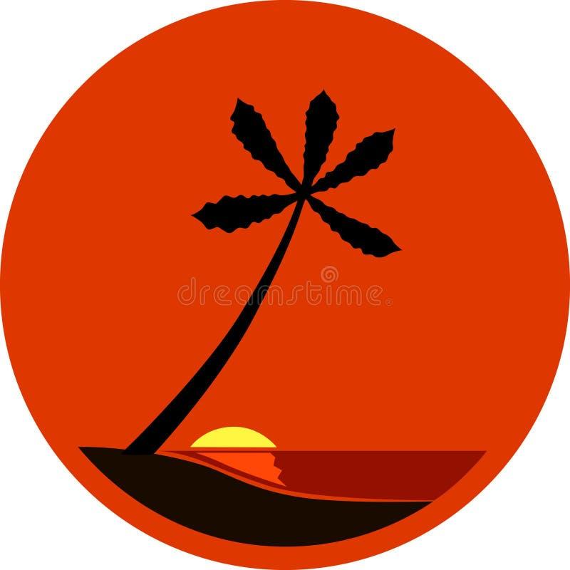 tropikalny słońca ilustracji