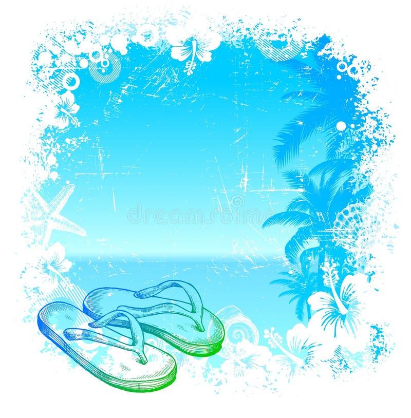 tropikalny tło wektor ilustracji