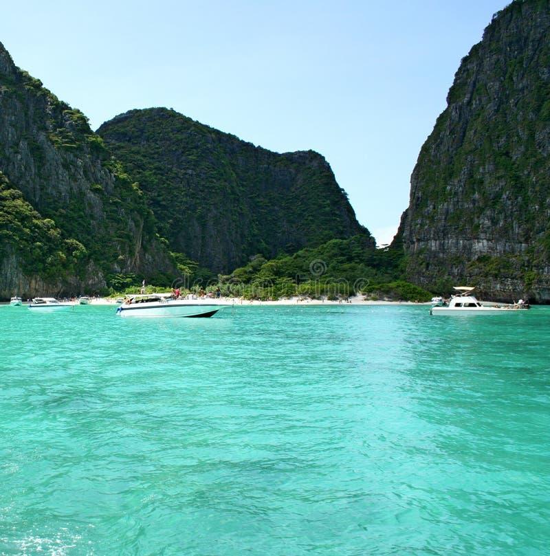 Tropikalny wyspa kurortu Phi Gubernialny Krabi Tajlandia zdjęcie royalty free