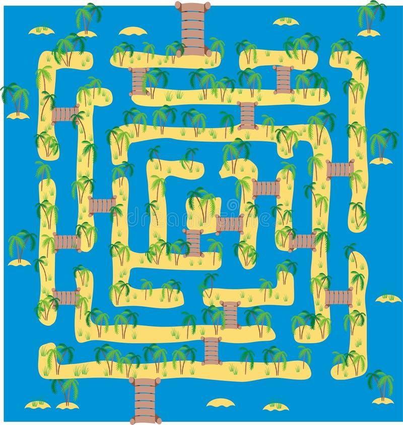tropikalny wyspa labirynt ilustracja wektor