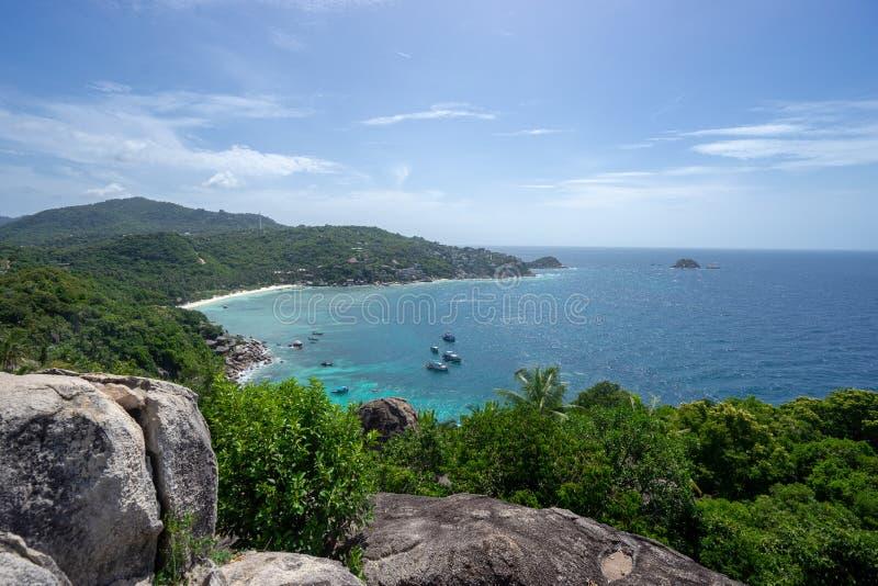 Tropikalny wyspa punkt widzenia zdjęcia royalty free