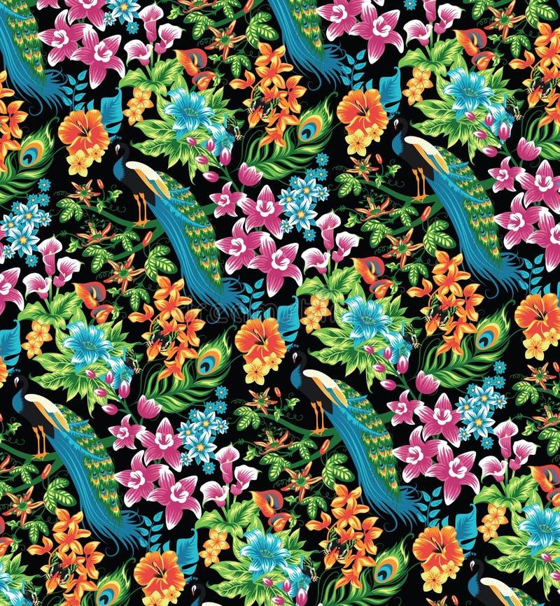 Tropikalny wzór. ilustracja wektor