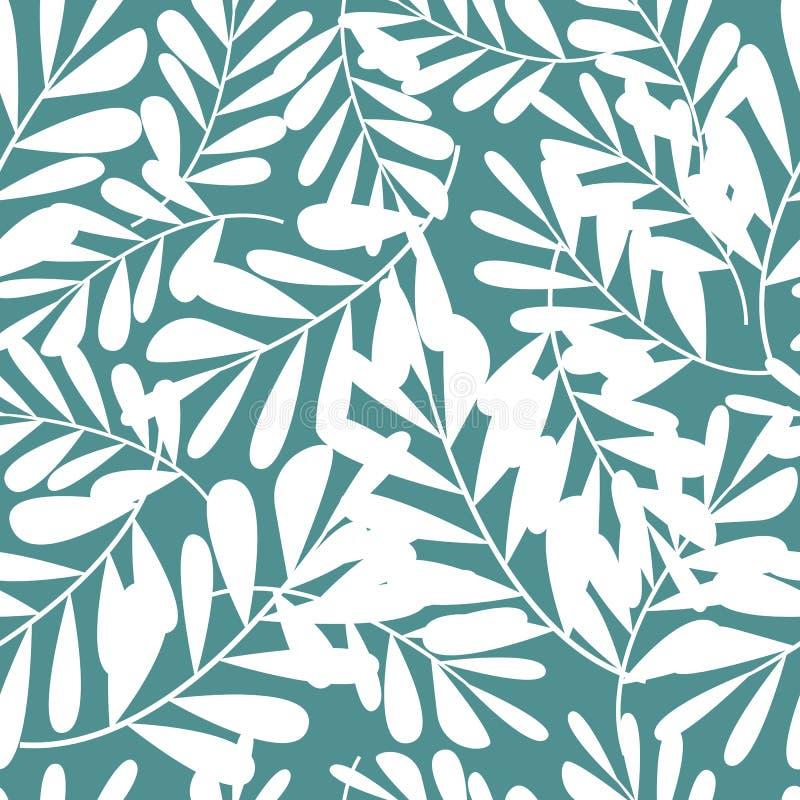 Tropikalny wzór, wektorowy kwiecisty tło Palma opuszcza bezszwowego wzór ilustracji