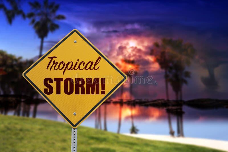 Tropikalny znak burzowy obraz royalty free