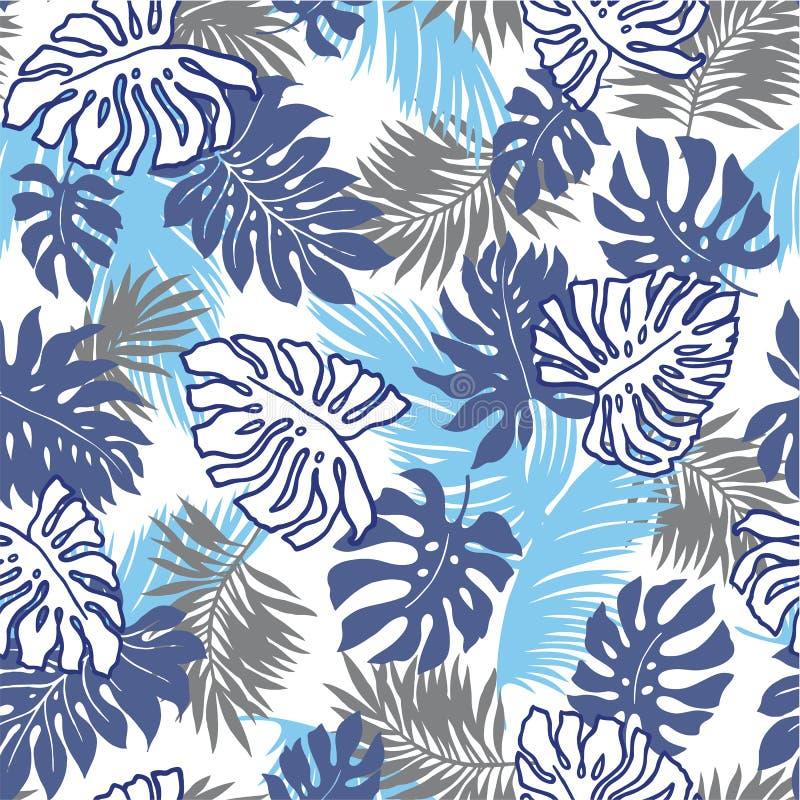 Tropikalnych rośliien wzór ilustracja wektor