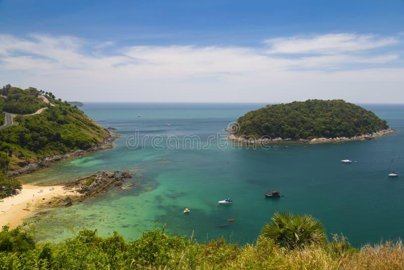 Tropikalnych wysp, ocean wybrzeże, Phuket Tajlandia zdjęcie royalty free