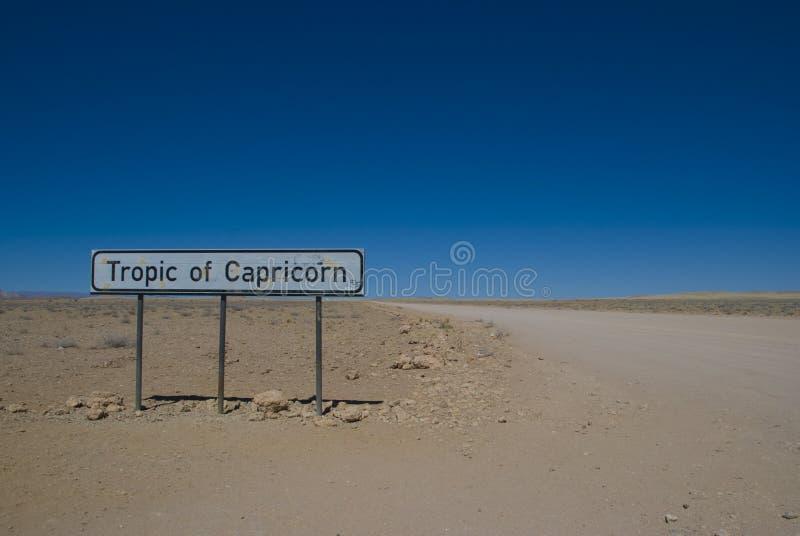Tropique de Capricorne images libres de droits