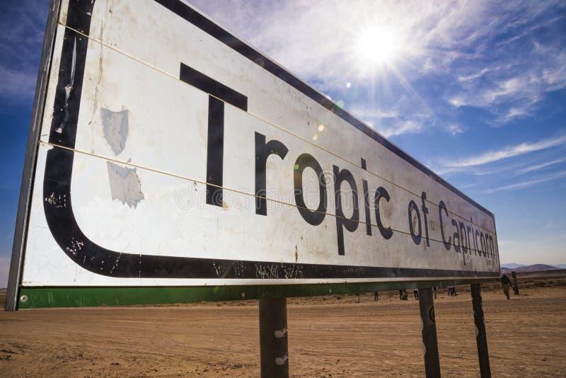 Tropique de Capricorne photographie stock