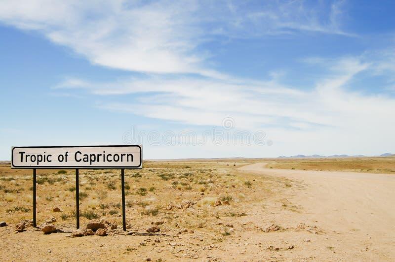 Tropique de signe de Capricorne - Namibie photo stock