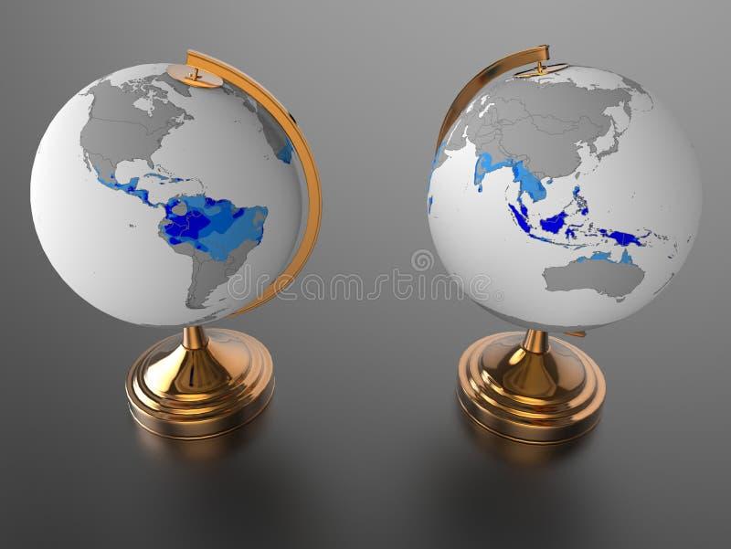 Tropiques de planète de la terre photographie stock libre de droits
