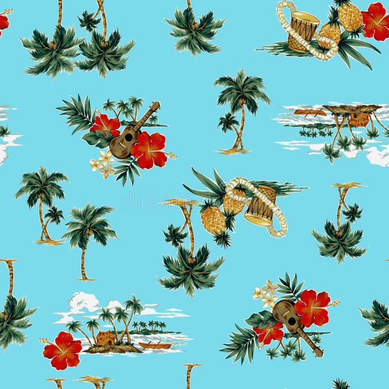 Tropisch beeld in patroon,