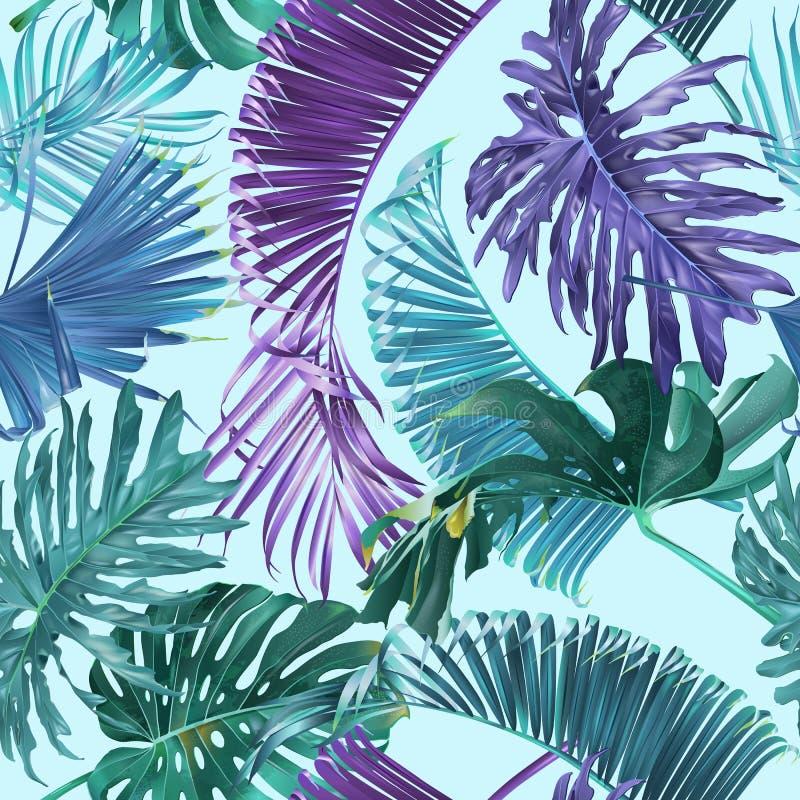 Tropisch bladerenpatroon vector illustratie