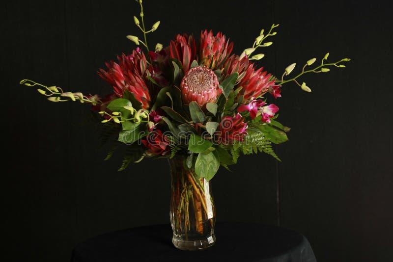 Tropisch bloemstuk stock foto's