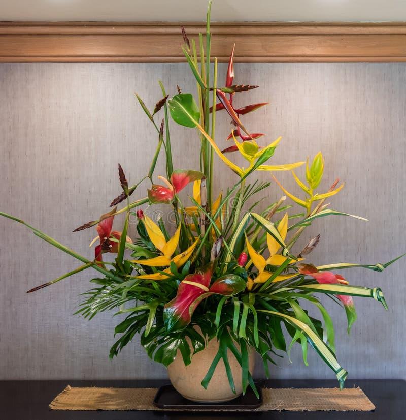 Tropisch bloemstuk op Kauai royalty-vrije stock afbeelding