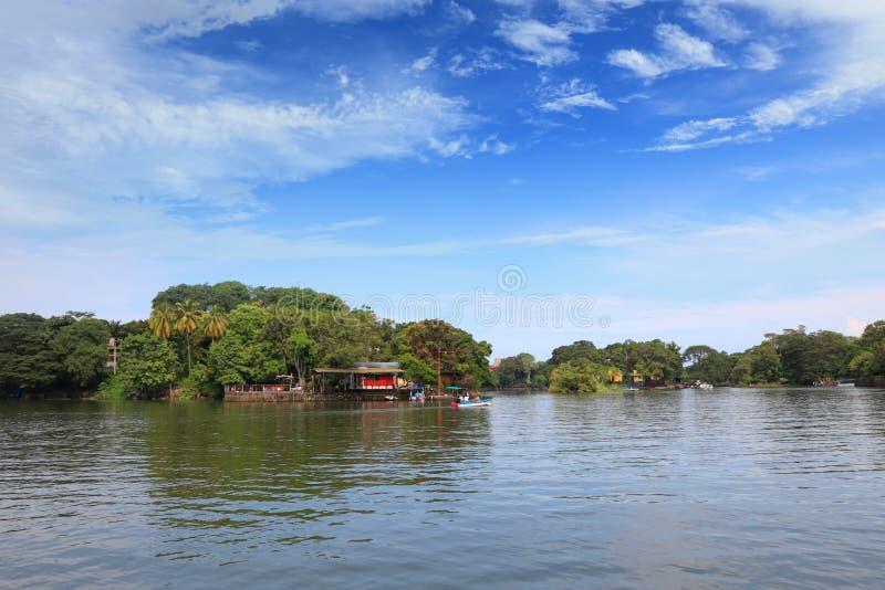 Tropisch dorp stock afbeeldingen