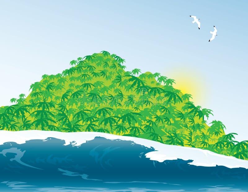 Tropisch eiland stock fotografie
