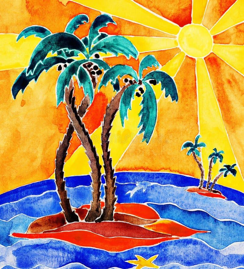 Download Tropisch eiland. stock illustratie. Illustratie bestaande uit toneel - 39104826