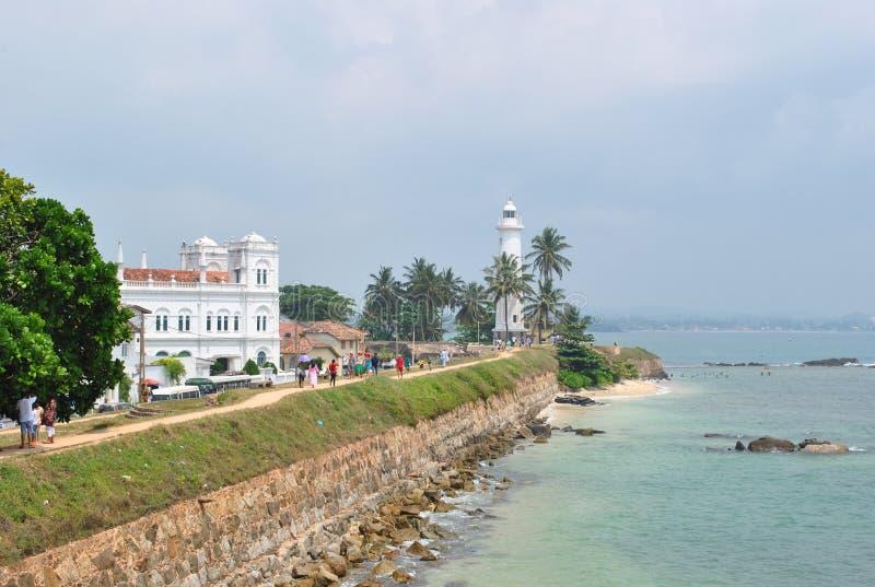 Tropisch eiland in de oceaan van Sri Lanka royalty-vrije stock afbeeldingen