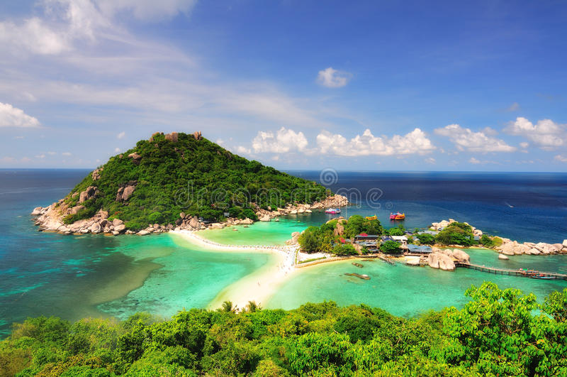 Tropisch eiland, Kor Tao, Thailand. stock foto's