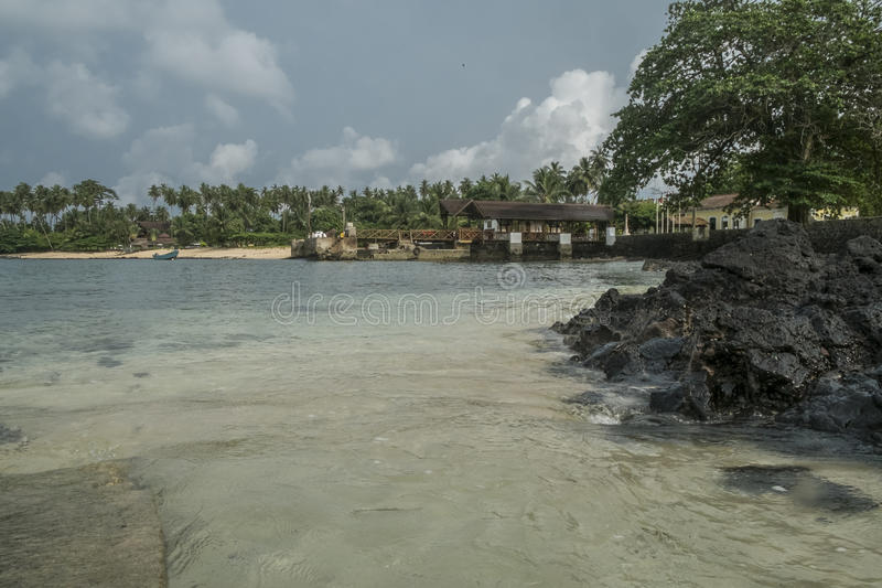 Tropisch Eiland Sao Tomé stock foto's