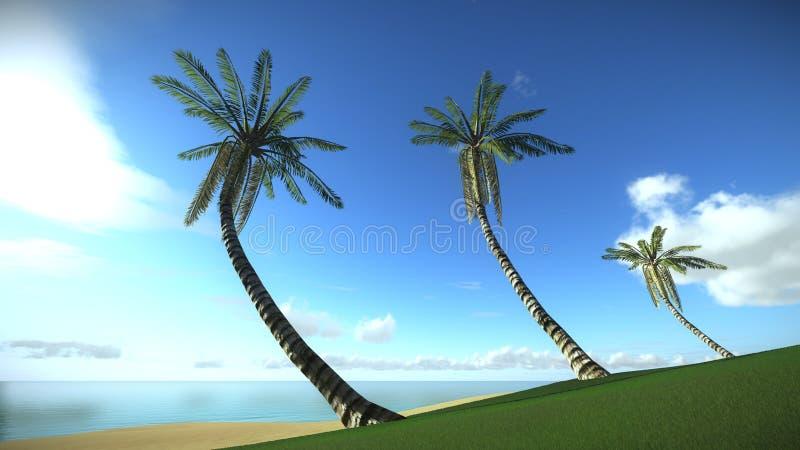 Tropisch eiland in vakantie stock illustratie
