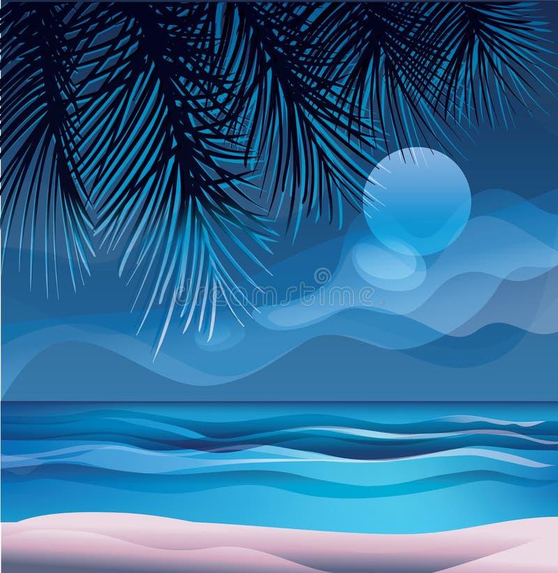 tropisch exotisch eiland oceaanstrand royalty-vrije illustratie