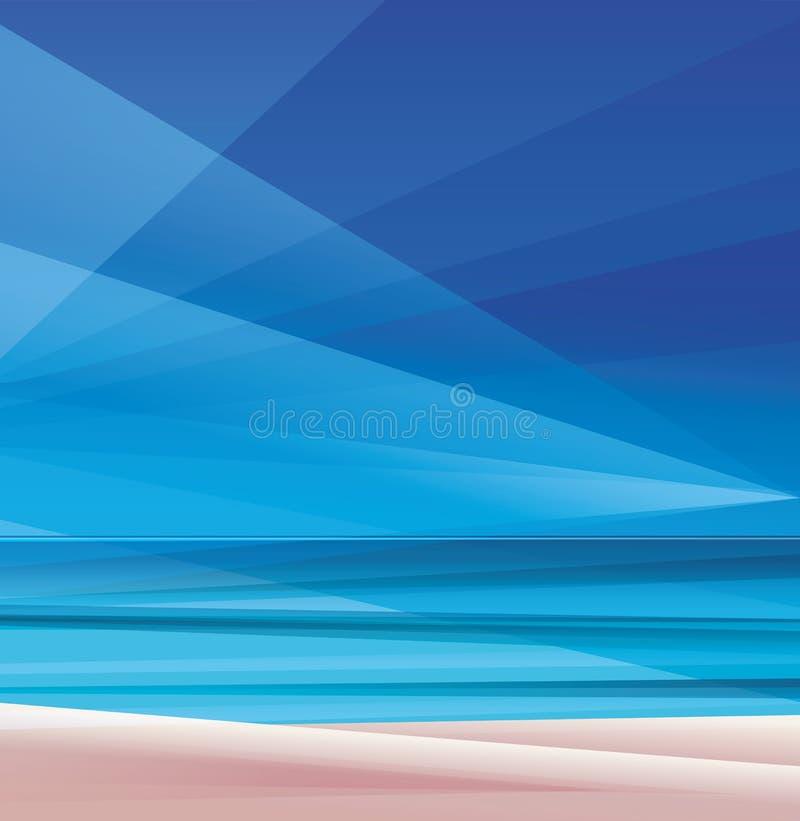 tropisch exotisch eiland oceaanstrand stock illustratie
