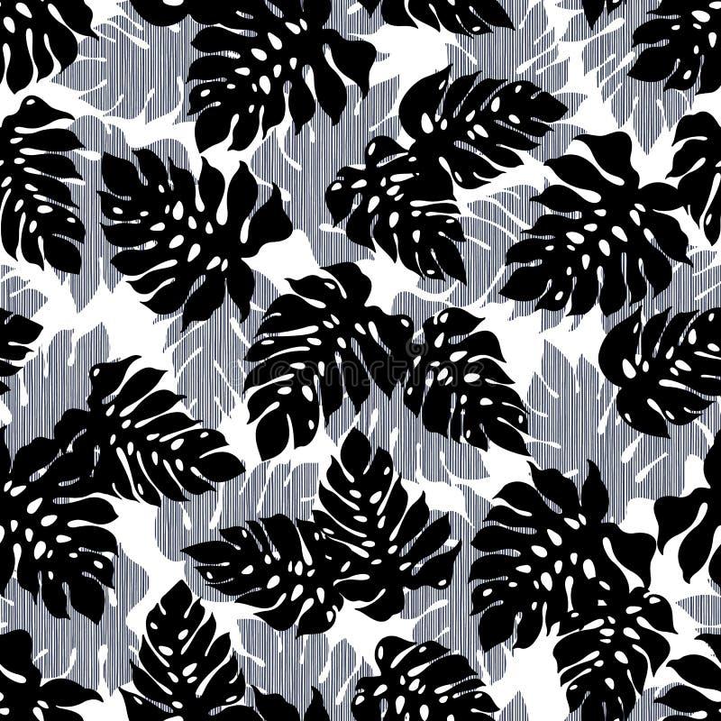 Tropisch het patroonmateriaal van de installatieillustratie, vector illustratie