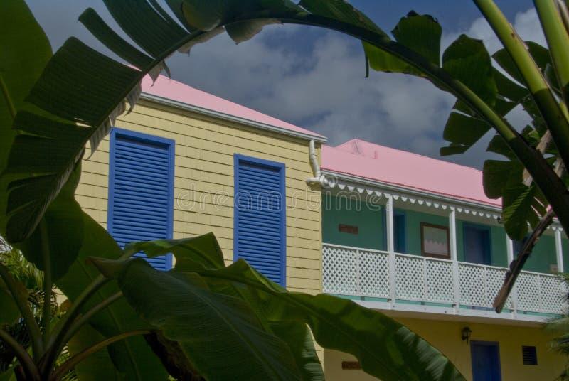 Tropisch Hotel op Tortola Eiland BVI royalty-vrije stock foto's
