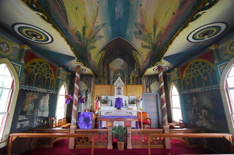 Tropisch kerkbinnenland stock afbeeldingen
