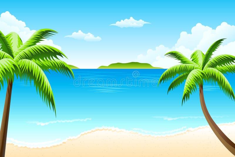 Tropisch landschap royalty-vrije illustratie