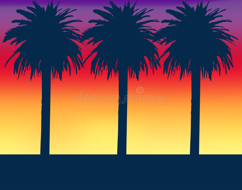 Tropisch Landschap stock illustratie