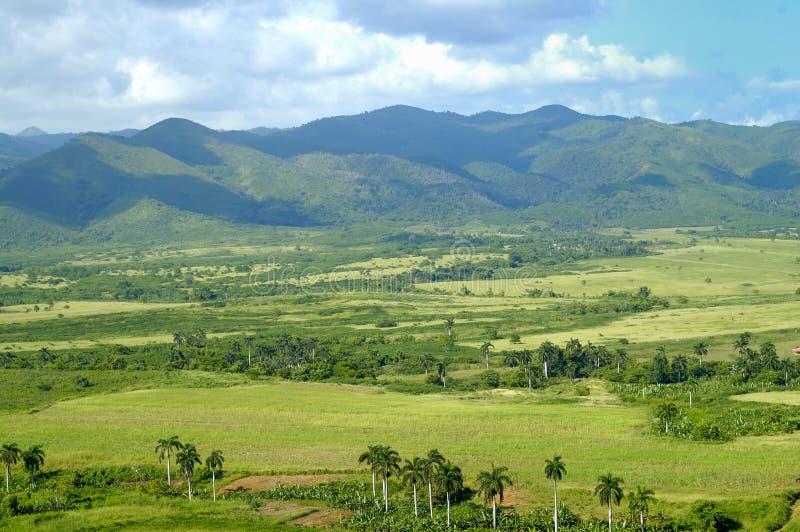 Tropisch landschap met bergen royalty-vrije stock foto