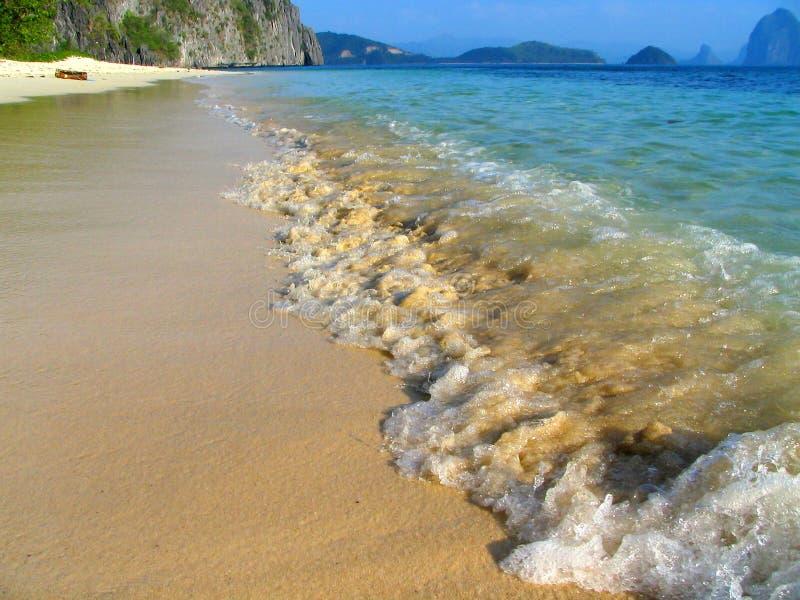 Tropisch maagdelijk strand stock foto