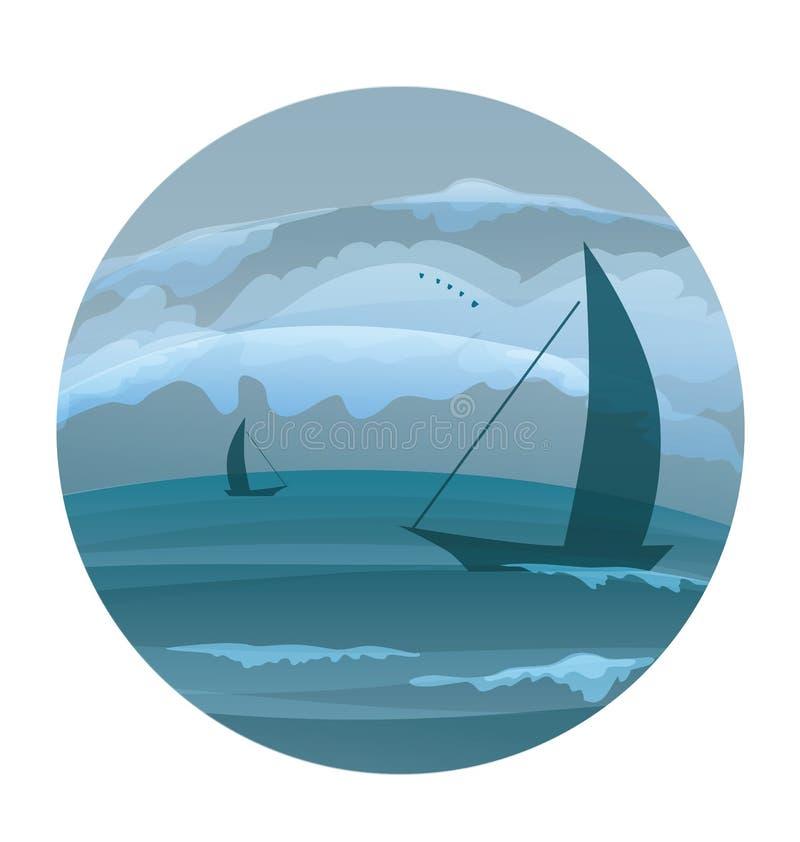 Tropisch oceaaneiland lanscape stock illustratie