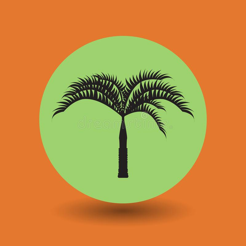 Tropisch palmsymbool of teken vector illustratie